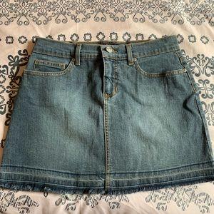 Bebe denim mini skirt